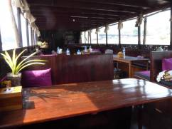 Teak furniture in the boat
