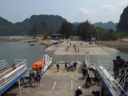 Arriving at Catba Island
