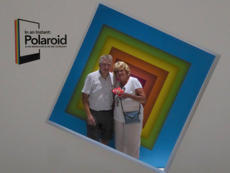 At the Polaroid exhibition