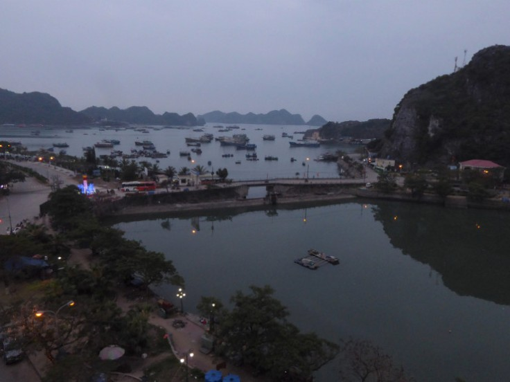 Night view of the fishing port