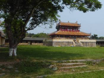 Temple under renovation at the Imperial City