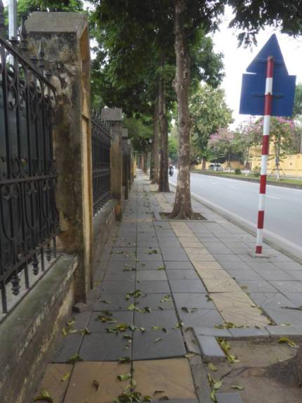 The only empty street in Hanoi
