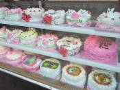 Lurid birthday cakes