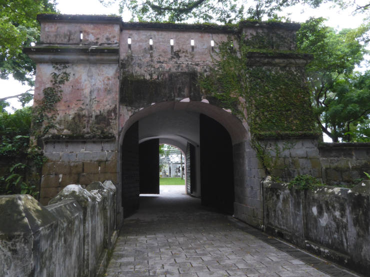 The remains of Fort Canning