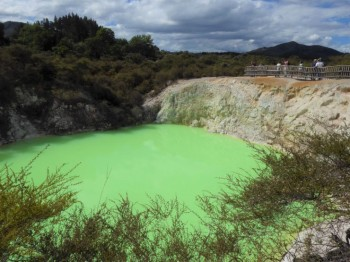 Lime green lake