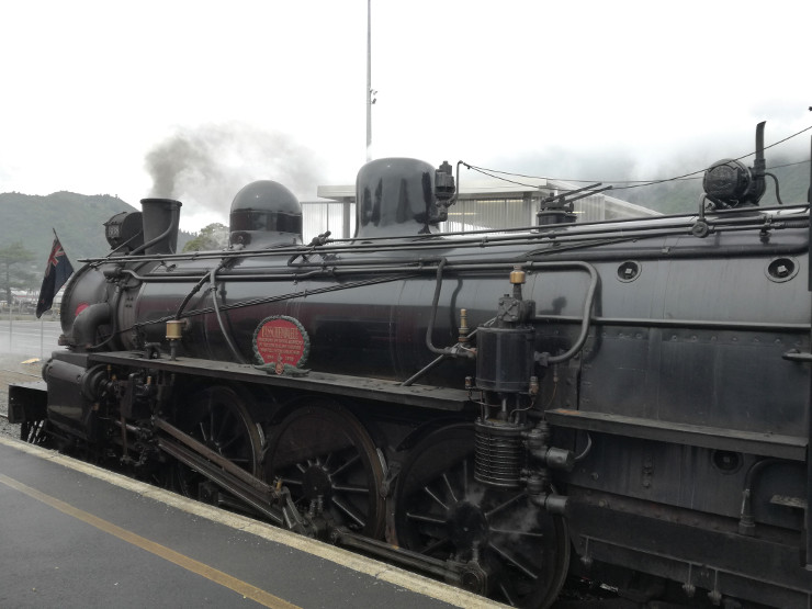 Steam train at Picton